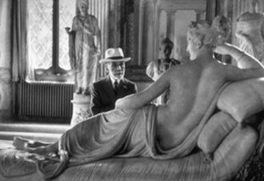Bernard Berenson at ninety, visiting Borghese Gallery Rome, 1955