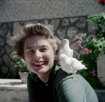 Ingrid Bergman with Doves, 1952.